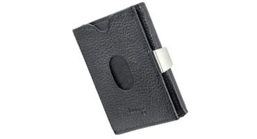 Twing Smart Wallet Black Structure - die kompakteste Geldbörse der Welt - kleines Karten-Portemonnaie