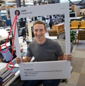 Mark Zuckerberg Webcam Cover bzw. Abdeckung. Warum deckt Mark Zuckerberg seine Laptop Kamera ab?