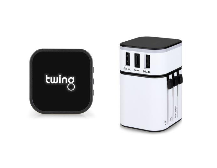 Twing Travel Adapter Reise Adapter als Werbeartikel zum bedrucken klein