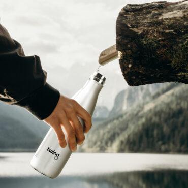 twing trinkflasche see wasser Trinkflasche bedrucken Bedruckte Trinkflasche Trinkflasche mit Firmenlogo