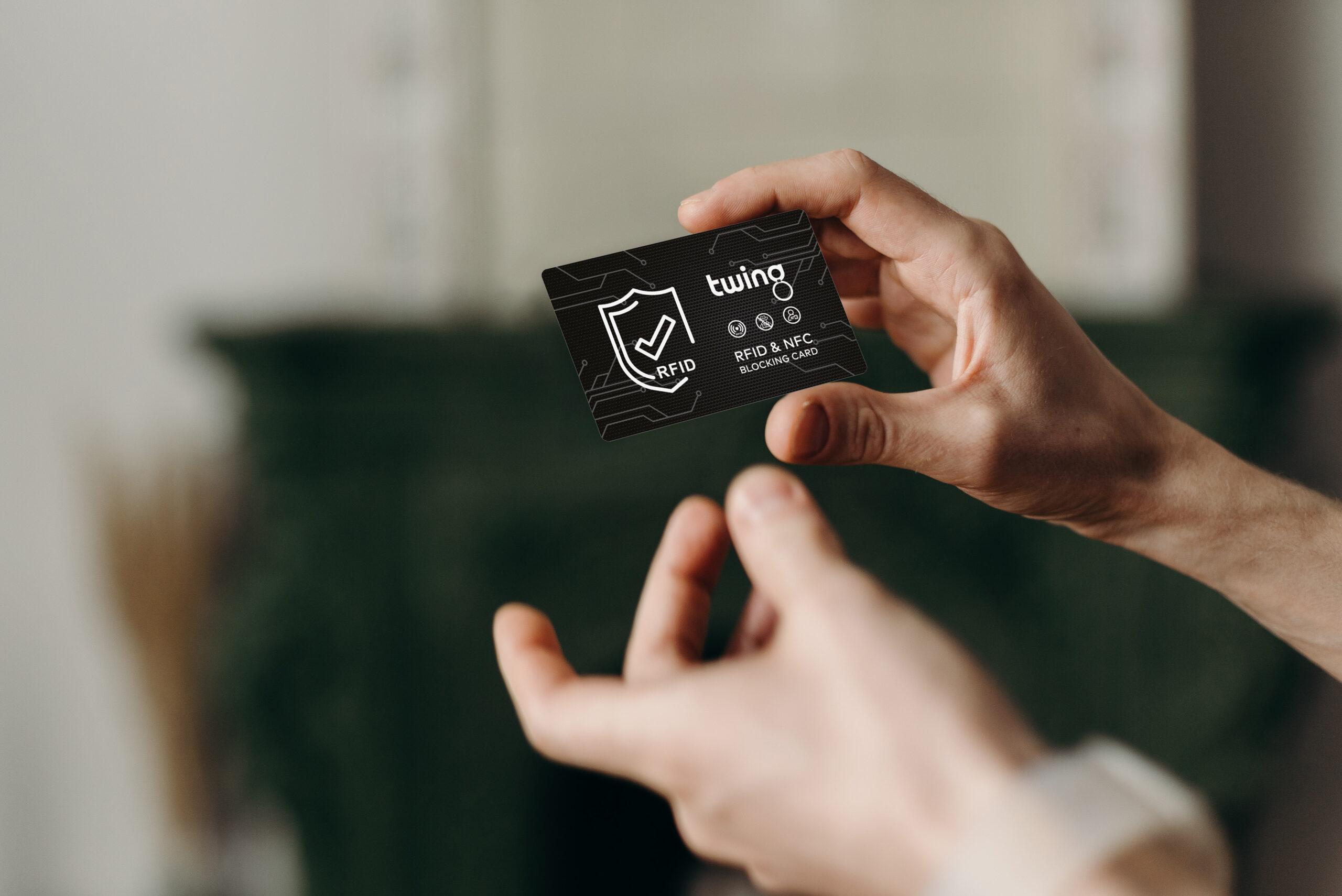 twing rfid blocker karte - der beste schutz gegen skimming im kreditkartenformat